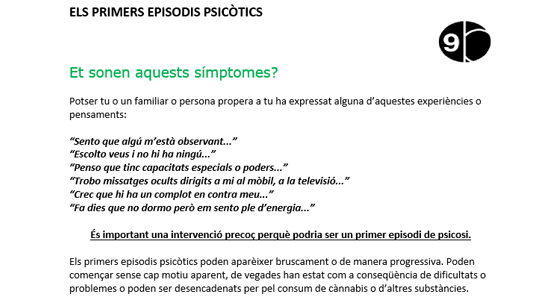 Els primers episodis psicòtics